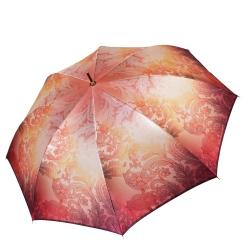 Женский зонт яркой игры красок оранжевых тонов в стиле пейсли от Fabretti, арт. 1801