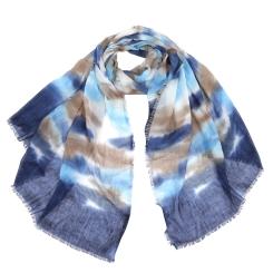Легкий женский шарф с красивым принтом, выполнен из 100% вискозы от Fabretti, арт. ACM119-1