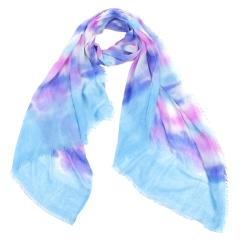 Легкий женский шарф в розовых и голубых оттенках, выполнен из 100% вискозы от Fabretti, арт. ACM119-2