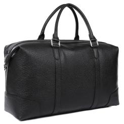 Мужская дорожная сумка, выполнена из натуральной кожи черного цвета от Fabretti, арт. CSN3548-black