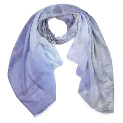 Нежный женский шарф с красивым рисунком, выполнен из модала от Fabretti, арт. CX1718-72-2
