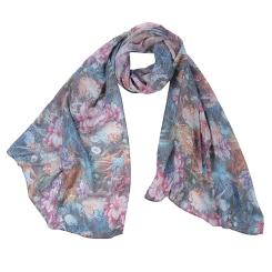 Цветной женский шарф с красивым принтом, выполнен из модала от Fabretti, арт. F1545-1