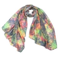 Яркий женский шарф из модала с растительным принтом от Fabretti, арт. F1547-3