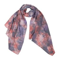 Шикарный женский шарф из модала с красивым растительным принтом от Fabretti, арт. F1547-5