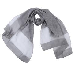 Однотонный женский шарф серого цвета, из вискозы с добавлением шелка от Fabretti, арт. F1704-1