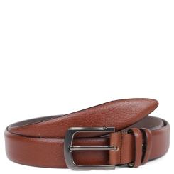 Модный брючный мужской ремень из натуральной кожи коричневого цвета от Fabretti, арт. FR12735-125 brown