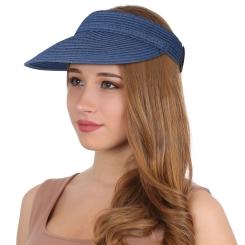 Женский козырек от солнца, модель синего цвета с открытым верхом от Fabretti, арт. G1-14 blue