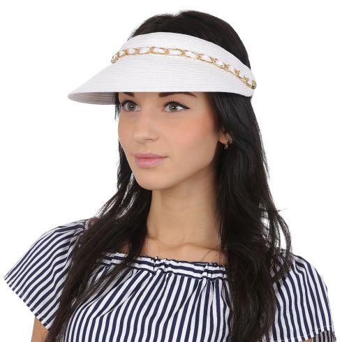 Шляпа-козырек Fabretti G49-4 white