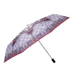 Женский зонт в современном исполнении узора пейсли и элементов клетки от Fabretti, арт. L-16102-2