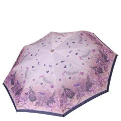 Женский зонт автомат розового цвета с красивым куполом в стиле пин - ап от Fabretti, арт. L-18103-7