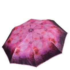 Женский зонт с геометрическим орнаментом в красных тонах от Fabretti, арт. L-18104-9