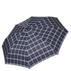 Мужской зонт автомат, модель с принтом в стильную клетку синего цвета от Fabretti, арт. MCH-1