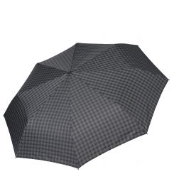 Мужской зонт автомат стильного дизайна в мелкую клетку серых оттенков от Fabretti, арт. MCH-14