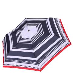 Женский зонт красно - черных тонов с принтом из графических линий от Fabretti, арт. MX-18100-1