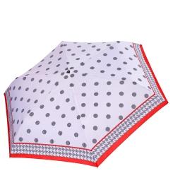 Женский зонт белого цвета с модным принтом в горошек от Fabretti, арт. MX-18100-10