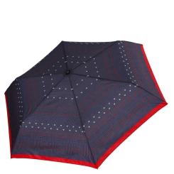 Женский зонт насыщенного серого цвета с стильным принтом от Fabretti, арт. MX-18100-2