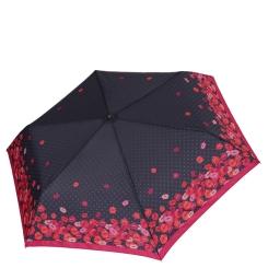 Женский зонт стильного дизайна из игривых губ на черном фоне от Fabretti, арт. MX-18100-5