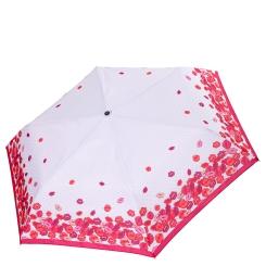 Женский зонт  белого цвета с принтом из разноцветных губ от Fabretti, арт. MX-18100-6