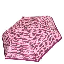 Женский зонт с рисунком из гороха разной формы в красно - бордоых тонах от Fabretti, арт. MX-18100-7