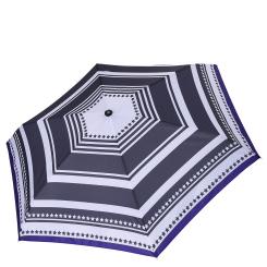 Женский механический зонт с полосатым куполом серого цвета от Fabretti, арт. MX-18101-1