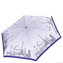 Женский механический зонт с принтом в виде мировых памятников архитектуры от Fabretti, арт. MX-18101-2