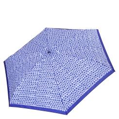 Голубой женский механический зонт с дизайнерским принтом в горошек от Fabretti, арт. MX-18101-7