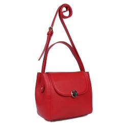 Женская сумка через плечо из натуральной кожи красного цвета от Fabretti, арт. S2223-red