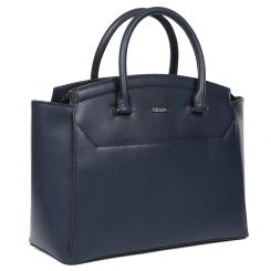Женская сумка для документов из натуральной кожи синего цвета от Fabretti, арт. S2258-blue