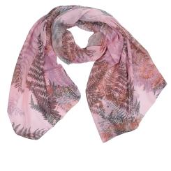 Нежный женский шарф розового оттенка с красивым принтом, из модала от Fabretti, арт. W3-1
