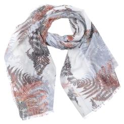 Светлый женский шарф из модала с нежным растительным принтом от Fabretti, арт. W3-2