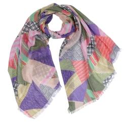 Стильный женский шарф с оригинальным принтом, выполнен из модала от Fabretti, арт. W9-1