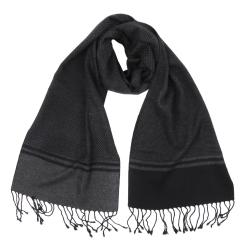 Мужской шарф в классическом стиле из вискозы и шелка от Fabretti, арт. WR291-4
