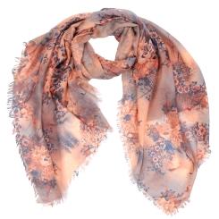 Модный женский шарф с красивыми цветами, из модала от Fabretti, арт. XW3-2