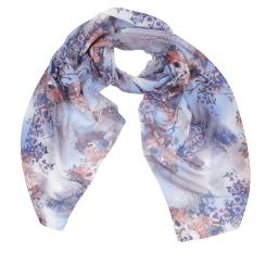 Легкий женский шарф с красивым цветочным принтом, выполнен из модала от Fabretti, арт. XW3-3