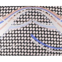 Оригинальный женский шарф с геометрическим принтом из теплой шерсти от Fabretti, арт. YQ24