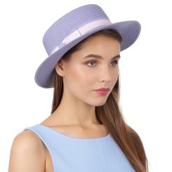 Голубая летняя женская шляпа, модель для пляжного отдыха от Fabretti, арт. G69-14 blue