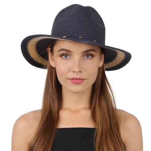 Летняя шляпа Fabretti GL75-5/1 blue/beige