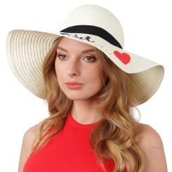 Элегантная женская летняя соломенная шляпа светло-бежевого цвета от Fabretti, арт. GL84-3 beige