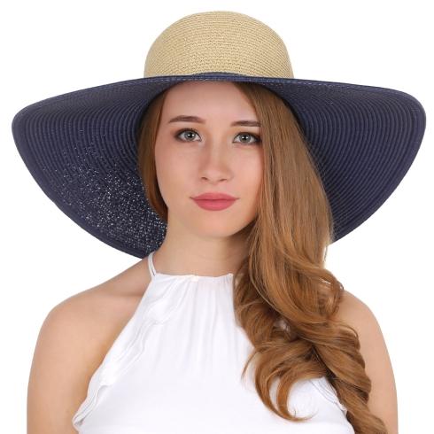 Летняя шляпа Fabretti K5-5/1 blue/beige