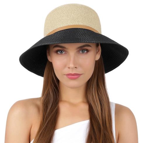 Летняя шляпа Fabretti K8-1/2 beige/black