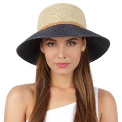 Летняя шляпа Fabretti K8-1/5 beige/blue