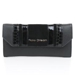 Женский кожаный кошелек с лакированными и замшевыми вставками от Fiato Dream, арт. п323