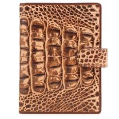 Элегантная обложка для документов из коричневой натуральной кожи с тиснением от Fiato Dream, арт. п53