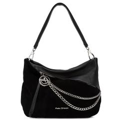Стильная женская сумка-мешок из натуральной кожи с замшевой вставкой от Fiato Dream, арт. 1005-d178753