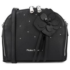 Элегантная женская кожаная сумка черного цвета, украшенная аппликацией от Fiato Dream, арт. 1008-d181096
