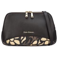 Стильная женская кожаная сумка коричневого цвета, украшенная аппликацией от Fiato Dream, арт. 1012-d178676