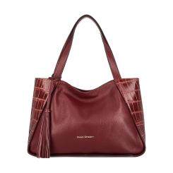 Бордовая женская сумка из матовой и тисненной натуральной кожи от Fiato Dream, арт. 1016-d153041