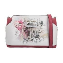 Женская розовая сумка из натуральной кожи с рисунком от Fiato Dream, арт. 1023-d171358