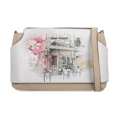 Эффектная женская кожаная сумка с рисунком компактного размера от Fiato Dream, арт. 1023-d171359