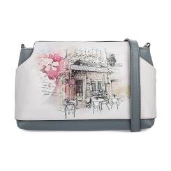 Компактная женская сумка из натуральной кожи с романтичным рисунком от Fiato Dream, арт. 1023